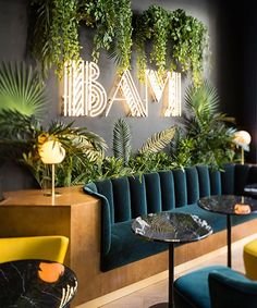 michael malapert designs the bam karaoke box in paris with a hint of art d .:separator:michael malapert designs the bam karaoke box in paris with a hint of art d . Design Shop, Cafe Design, House Design, Design Art, Design Boards, Lobby Design, Coffee Shop Design, Spa Design, Design Table
