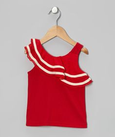 Take a look at this Red Asymmetrical Ruffle Tank - Toddler & Girls by Designer Kidz on today! Baby Girl Fashion, Toddler Fashion, Kids Fashion, Princess Fashion, Cute Little Girls, Little Girl Dresses, Cute Girl Outfits, Kids Outfits, Girly Girl