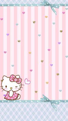 Walpaper Hello Kitty, Hello Kitty Iphone Wallpaper, Hello Kitty Art, Hello Kitty Themes, Hello Kitty Backgrounds, Sanrio Wallpaper, Hello Kitty Pictures, Abstract Iphone Wallpaper, Sanrio Hello Kitty