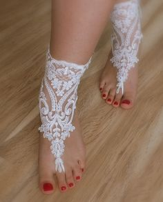 bridal anklet, white Beach wedding barefoot sandals, bangle, wedding anklet, free ship, anklet, bridal, wedding