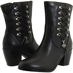 These will be my next HD Purchase...Harley-Davidson's kickass Alanis boots in black leather. $130