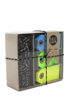 If you like giving gifts, the Black Tag and Twine Box is a must! Wrap presents with style. Comes in fun colors too! $20 www.mooreaseal.com