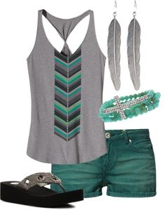 """teal"" by kmarch14 on Polyvore"