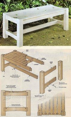 DIY Garden Seat - Outdoor Furniture Plans and Projects | WoodArchivist.com