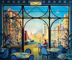 1000 images about art deco on pinterest art deco art for Art nouveau mural