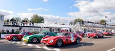 Ferrari 250 GTO lineup at Goodwood Sport Cars, Race Cars, Goodwood Circuit, Ferrari Racing, Auto Racing, Drag Racing, Goodwood Festival Of Speed, Goodwood Revival, Italia