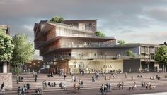 filigree clad arnhem ArtA cultural center by kengo kuma - designboom | architecture