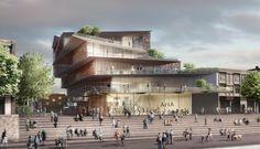 filigree clad arnhem ArtA cultural center by kengo kuma - designboom | architecture