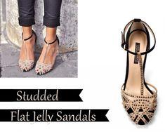 Zara Studded Flats + 90's Jellies - Glitter, Inc.
