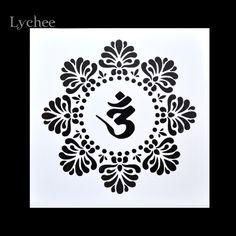Lychee Scrapbooking Outil Carte DIY Album de Masquage Peint À La Bombe Modèle Dessin Pochoirs Laser Découper Modèles Lotus Zen Yoga(China (Mainland))