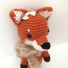 Fox Plush Amigurumi Fox Crochet Fox Doll Fox Toy by AmiAmiGocco