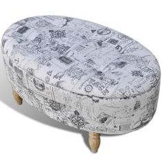 New Stool Footrest Ottoman Storage Seat Patterned Oval 99 x 60 x 47 cm Soft Online Furniture, Home Furniture, Furniture Design, Ottoman Storage Seat, Wood Stool, Commercial Furniture, Chair Bench, Sofa, Foot Rest