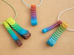 Polymer Clay Pendants Lagarta by Carina's Photos and Polymer Clay, via Flickr