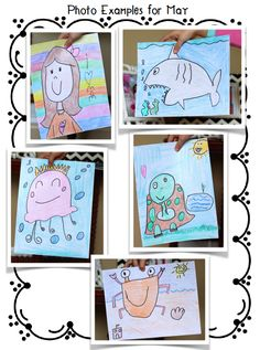 Directed Drawings for classroom art and thematic units in kindergarten and first grade.