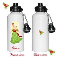 Personalised Kids water bottle Personalized Christmas by cjcprint