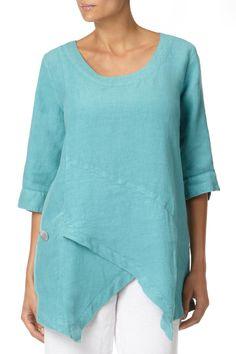 tunic | Tops | Linen Asymmetric Tunic at Sahara