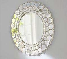 "White Circle Blossom Mirror   26.5"" diameter - $199 - Pottery Barn Kids"
