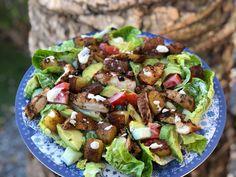 zomer salade met kruidige kip - Familie over de kook, Salad Recipes, Healthy Recipes, Healthy Food, Summer Salads, Summer Food, Bon Appetit, Summer Recipes, Cobb Salad, Kung Pao Chicken
