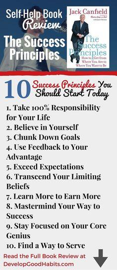 top The Success Principles Personal Development Books, Self Development, Jack Canfield Quotes, Success Principles, Growth Mindset, Me Time, Nonfiction Books, So Little Time, Self Improvement