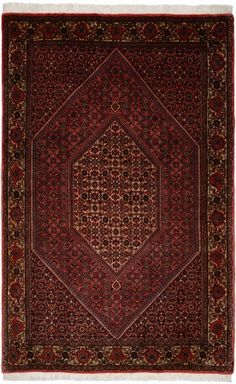 "Bidjar Rust Classic Medallion Carpet CS-M980870173 X 112 Cm. (5'7"" X 3'7"" Ft.) - Carpetsanta"