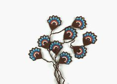 Crochet Lariat Necklace   Colorful Motif  Strand Oya Infinity