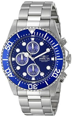 Invicta Men's 1769 Pro Diver Collection Stainless Steel Blue Dial Watch Invicta http://www.amazon.com/dp/B005FN0WRI/ref=cm_sw_r_pi_dp_Sk7Gvb1P6J80A
