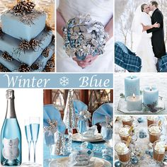 Winter Wedding in Blue - For a winter wedding there are lots of color choices but an icy blue can't be beat! #winterwedding