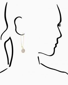 Sandblast Coins Earrings