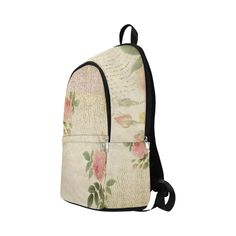 Doree Rose by PiccoGrande Fabric Backpack for Adult (Model Stitch Lines, Fashion Backpack, Romantic, Backpacks, Rose, Pattern, Fabric, Bags, Style