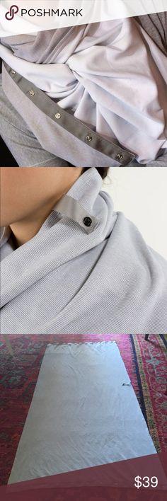 Lululemon Grey & White Striped Vinyasa Scarf Lululemon Heather Grey & White Striped Vinyasa Scarf.  Washed, but never worn. lululemon athletica Accessories Scarves & Wraps
