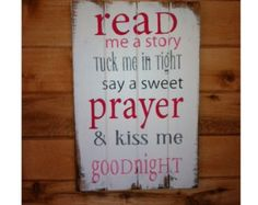 Now I lay me down to sleep wood sign by WildflowerLoft on Etsy