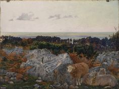 """Daniel Alexander Williamson (1823 - 1903), """"Morecambe Bay from Warton Crage"""", 1862. Presented to the Walker Art Gallery by James Smith of Blundellsands in 1923. WAG 781. Walker Art Gallery. © Walker Art Gallery 2016"""