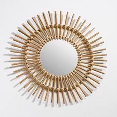 Miroir forme soleil vintage, Nogu La Redoute Interieurs