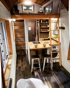 """What do you think of this design? // #tinyhouse The """"Kootenay Tiny House"""" built by TruForm Tiny Photo by TruForm Tiny"""