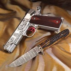 Knife or gun board? Worth both.  Pistol and Knife Engraving by Steve Dunn