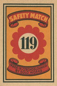 https://flic.kr/p/7154Mb | Czechoslovakian matchbox label