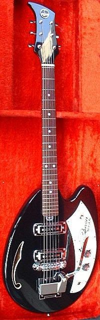 vintage 1960s red teisco del ray spectrum guitar 4 pickups stuff teisco queen 1968 vintage