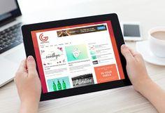 Two hands holding iPad Mockup | MockupWorld