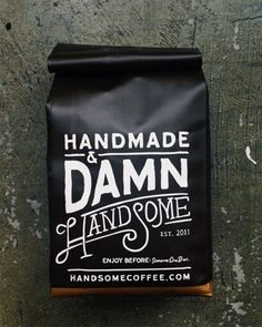 Gorgeous typographic packaging for coffee.