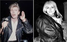 (L) David Bowie. (R) Debbie Harry. (dates unknown)