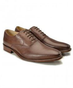 Brown Leather Classic Derby Shoes | Gagliardi