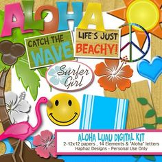 so many free invites and printables from different themes. The pic is the Aloha Luau Digital Kit - download freebie!