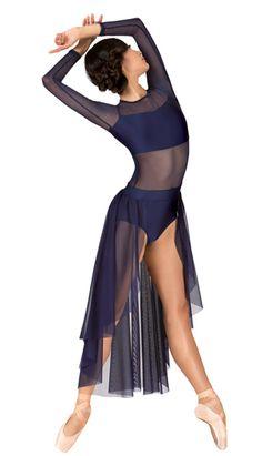 N7316 ● Long Sleeve High-Low Dress