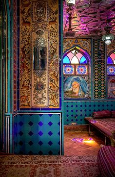 Persian Tea House, Isfahan, Iran de Kamal al Mulk Cultural Architecture, Persian Architecture, Art And Architecture, Mosque Architecture, Iran Travel, Acid House, Persian Culture, Arabesque, Islamic Art
