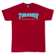 fb83ee6d68fc Thrasher · Outlined T-Shirt Cardinal Red Skate Wear, Cotton Tee, Cotton Logo,  Outline
