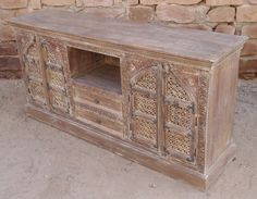 Antique Cabinet with Drawer Chest and Two Small Side Almirah