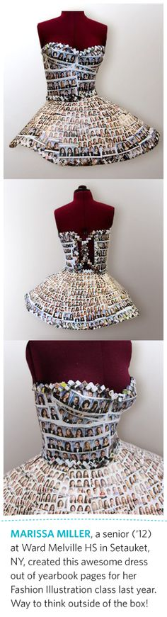 Paper #yearbook dress.