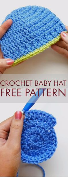 The perfect beginner crochet newborn hat! It's really easy, and great for baby boys. I always see lots of cute baby things for girls with flowers and butterflies, but no cute patterns for boys - what gives? So here's a go to for hospital donation or baby showers. It works up in about 30 minutes & is my favorite!