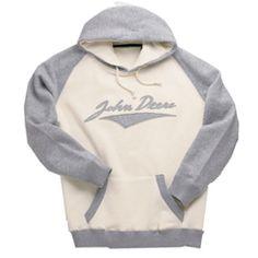 John Deere Womens Heather Hooded Sweatshirt (JD04615)