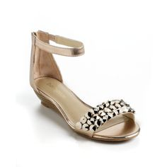 Enzo Angiolini Karezza Leather Wedge Sandals ($50) found on Polyvore